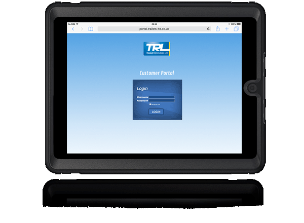 the TRL Portal on monitor